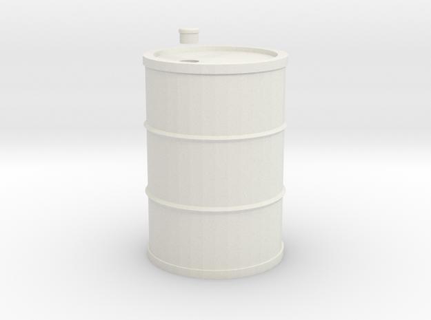 Drum 200 Litre 1:18 in White Natural Versatile Plastic