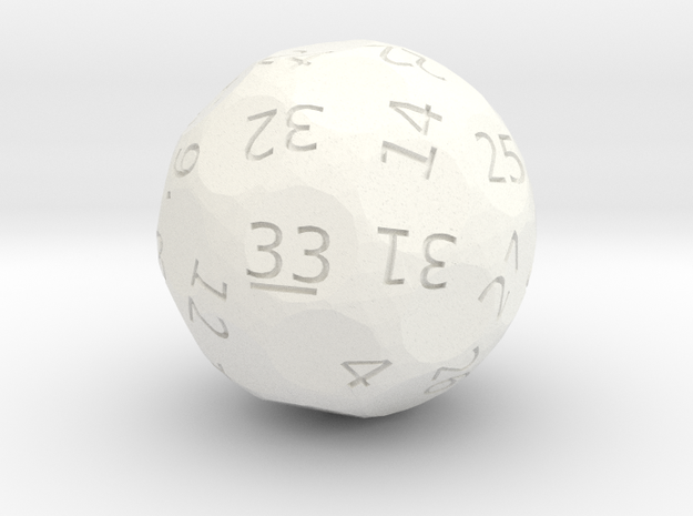 d33 oddball die in White Strong & Flexible Polished