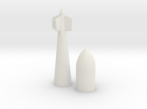 Tallboy 3D Printed in White Strong & Flexible