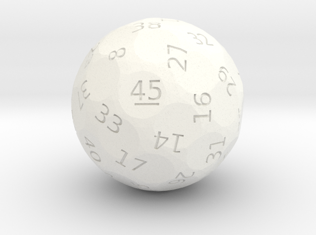 d45 oddball die in White Strong & Flexible Polished