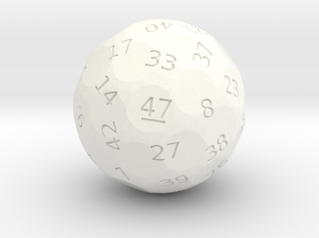 d47 oddball die in White Strong & Flexible Polished