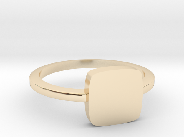 Square Face Stacker Band 6 in 14K Gold