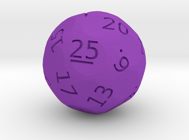 d25 oddball die in Purple Processed Versatile Plastic