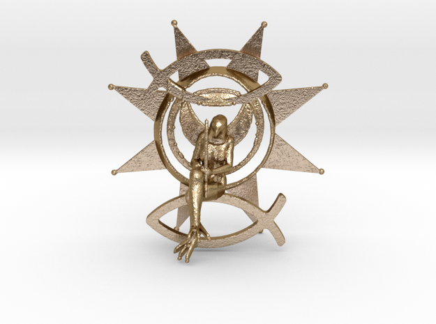 Luck Sign Venus  in Polished Gold Steel
