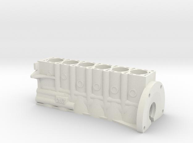 ScaledEngines_2JZ-Block in White Natural Versatile Plastic
