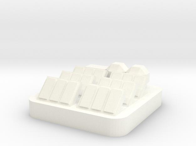 Mini Space Program, Solar Array in White Processed Versatile Plastic