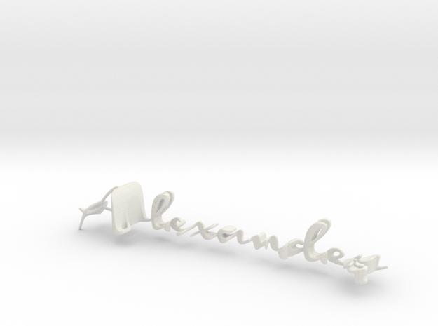 3dWordFlip: Alexander/Heinrich in White Natural Versatile Plastic