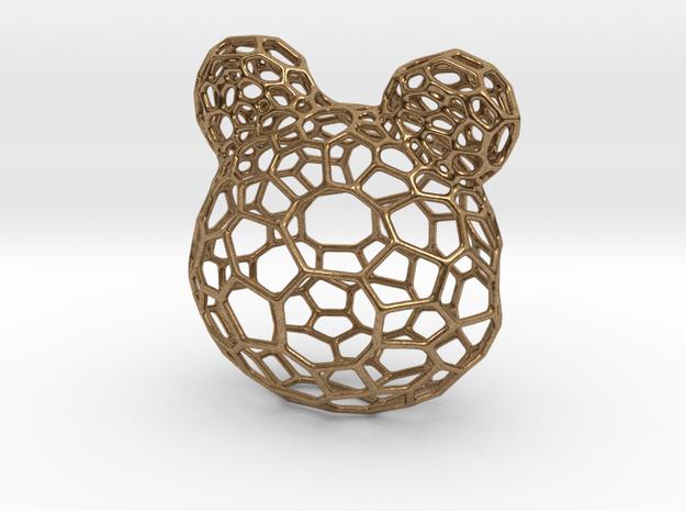 Teddy Bear Pendant in Natural Brass