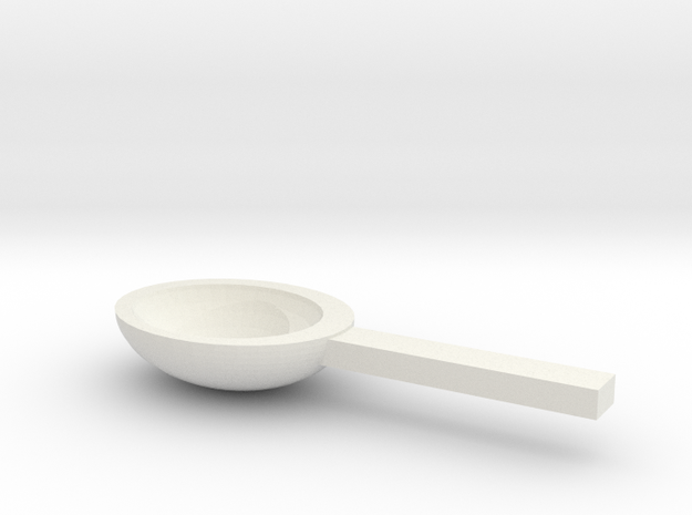 Spoon in White Strong & Flexible