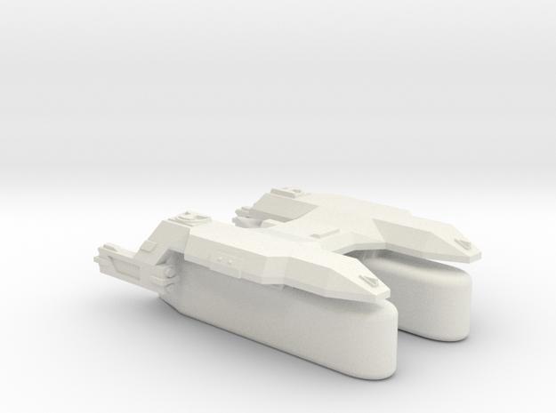 3788 Scale Lyran Puma Transport Tug (K-Pods) CVN in White Strong & Flexible