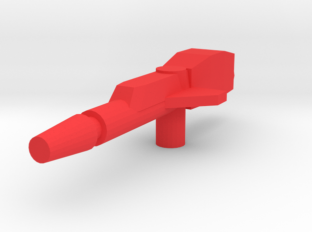Cloudburst Rifle 3mm handle for Micronus Prime in Red Strong & Flexible Polished