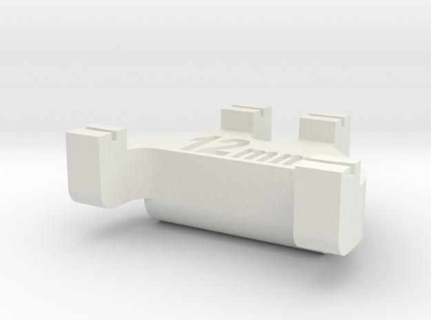 HOn3½ Track Gauge - Code 40 in White Natural Versatile Plastic
