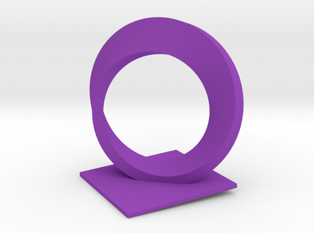 Mobius Trophy (thick) in Purple Processed Versatile Plastic