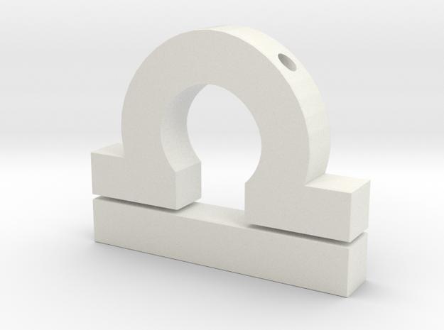 Libra Symbol Pendant in White Natural Versatile Plastic