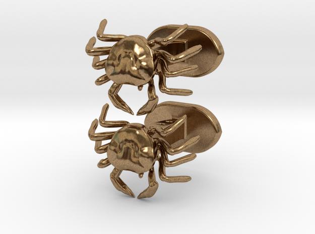 Crabbs cufflinks in Raw Brass
