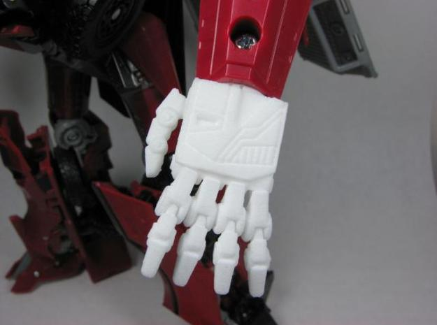 DOTM Leader Sentinel Prime hands (toy accurate) 3d printed Detail view.