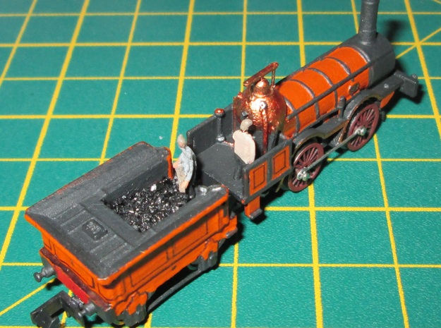 N Gauge 1846 Coppernob Tender Scratch Aid in Smooth Fine Detail Plastic
