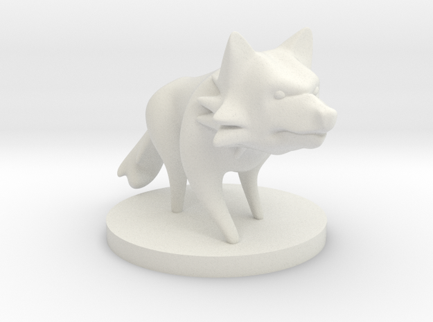 Wolf in White Natural Versatile Plastic