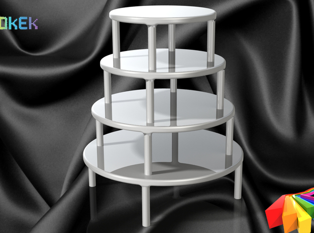 Cake stand XS (10cm) 3d printed Stacked on top of each other