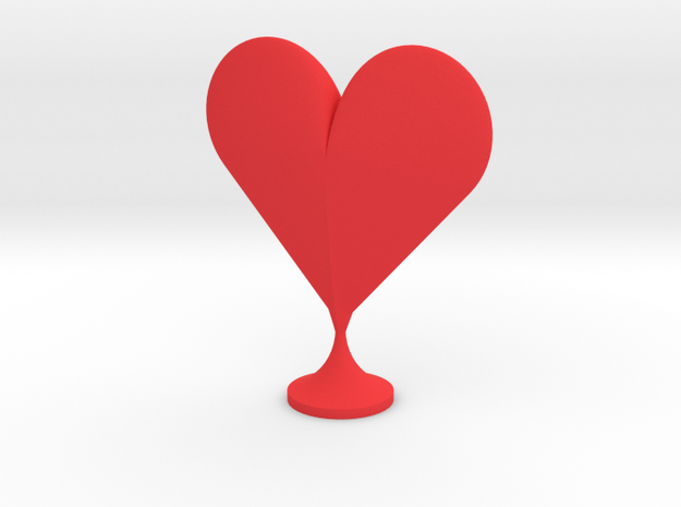 Heart Stand in Red Processed Versatile Plastic