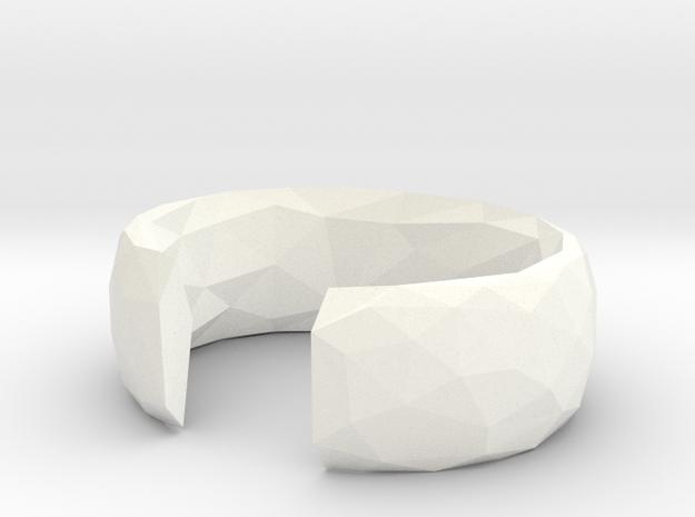 Ryota Cuff in White Processed Versatile Plastic