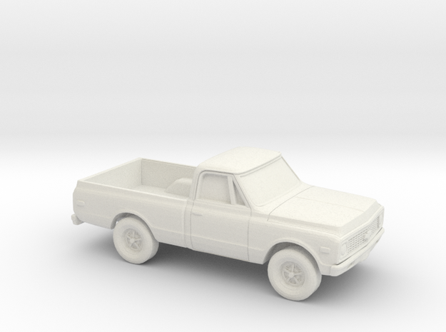 1/87 1970-72 Chevy C-Series Short Bed in White Natural Versatile Plastic