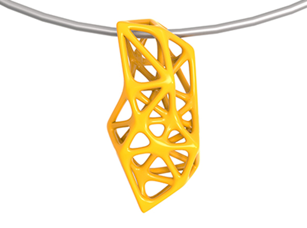 Exo Pendant 1.0 in Yellow Strong & Flexible Polished