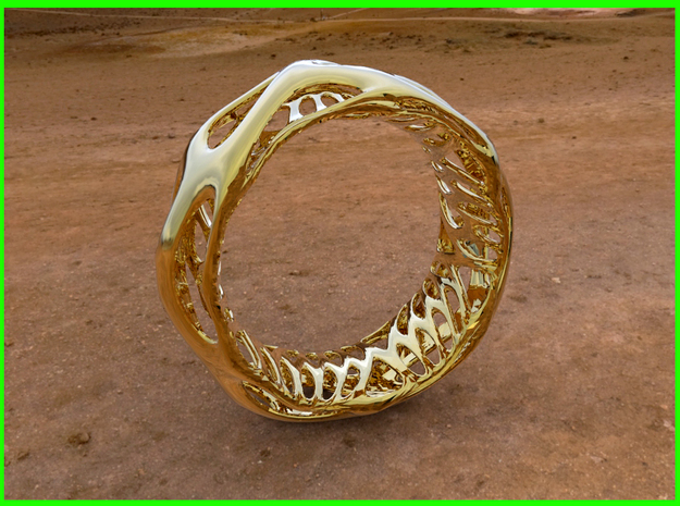Bracelet Opat Stl in Polished Gold Steel