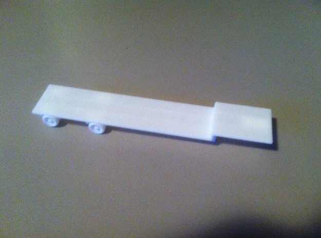 1:160/N-Scale Flatbed Trailer in White Natural Versatile Plastic