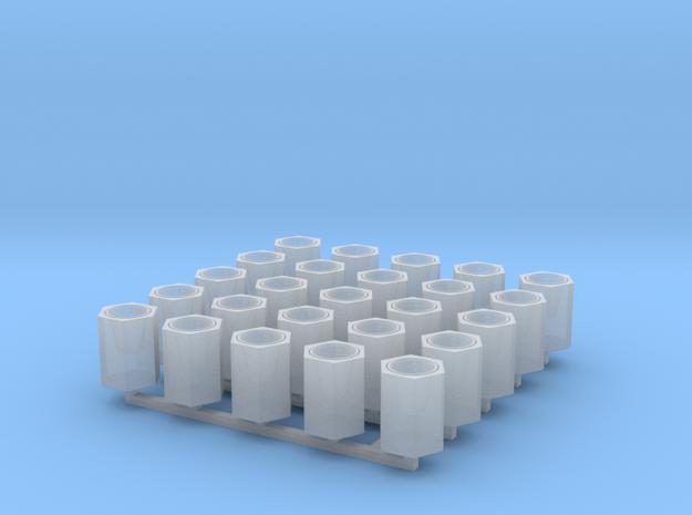 Betonpapierkorb sechseckig, DDR, 1:87, 25 Stück in Frosted Ultra Detail