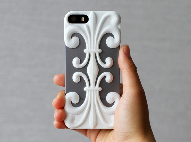 iPhone SE/5/5s DIY Case - Floria in White Processed Versatile Plastic