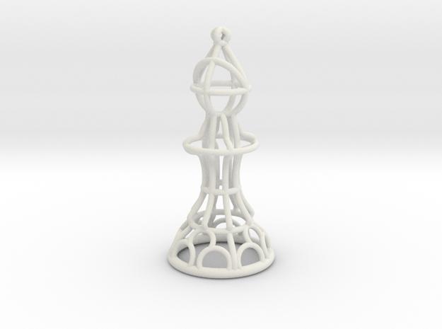 Hollow Chess Set - Bishop in White Natural Versatile Plastic