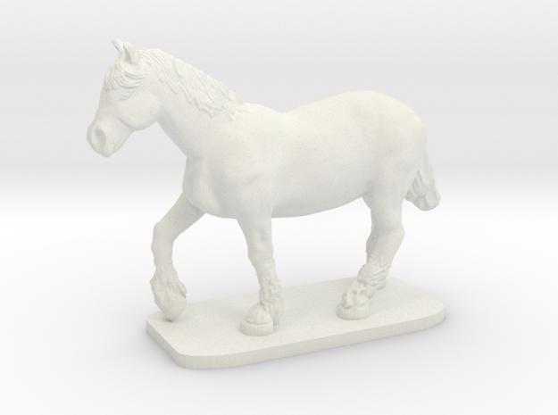 Heavy Horse in White Natural Versatile Plastic