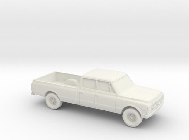 1/87 1970-72 Chevrolet C-Series Crew Cab in White Natural Versatile Plastic