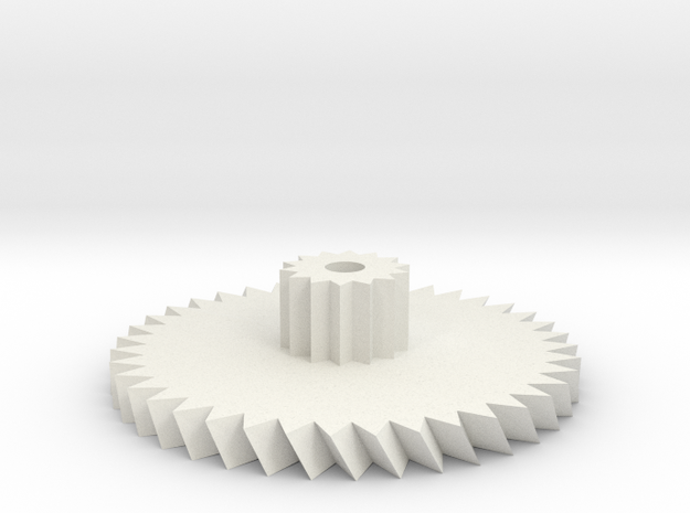 D8443 Gear in White Natural Versatile Plastic