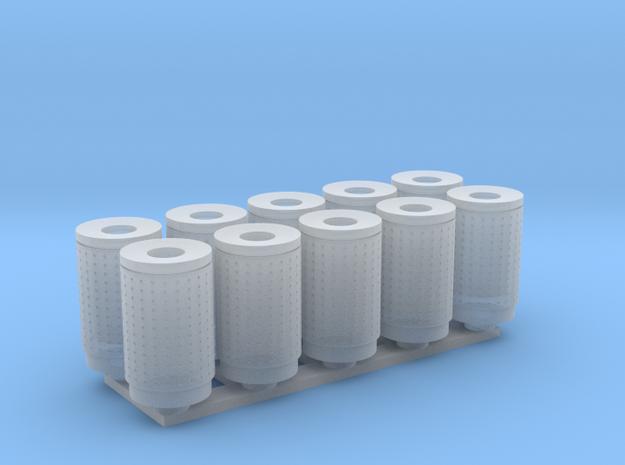 DSB 80L Affaldsbeholder (10stk) 1:120 in Smooth Fine Detail Plastic