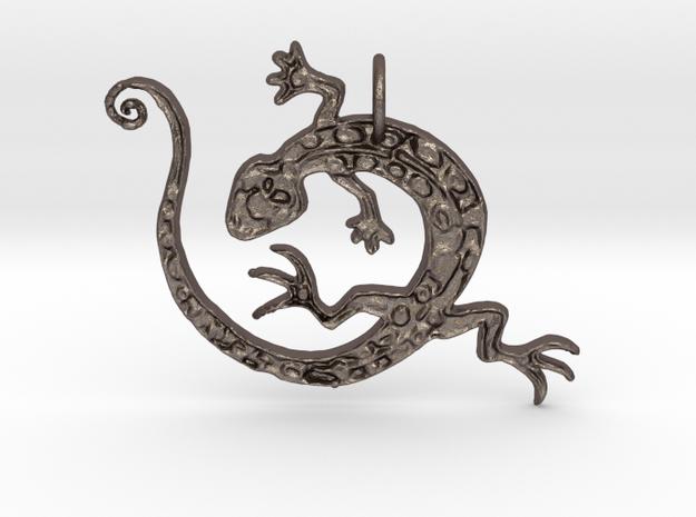 Lizard Dance in Polished Bronzed Silver Steel
