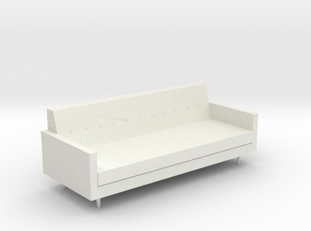 Mid-Century Sofa in White Strong & Flexible