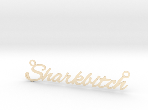 Sharkbitch Necklace in 14k Gold Plated Brass