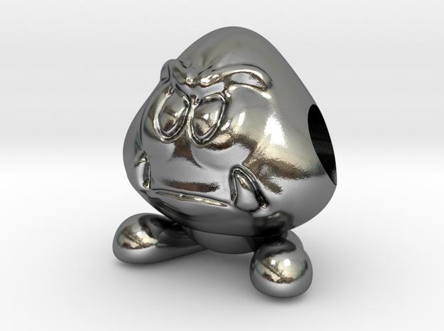 Koopa Goomba in Polished Silver