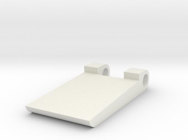 Hinge Ultimaker enclosure (1/3) in White Natural Versatile Plastic: Small