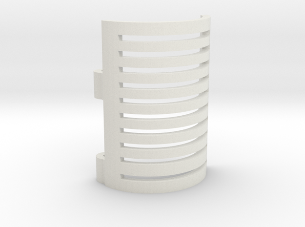 Sound Card Cover in White Natural Versatile Plastic