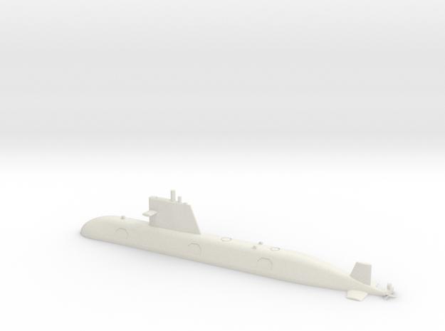 1/350 Scorpene-class submarine (Waterline) in White Natural Versatile Plastic