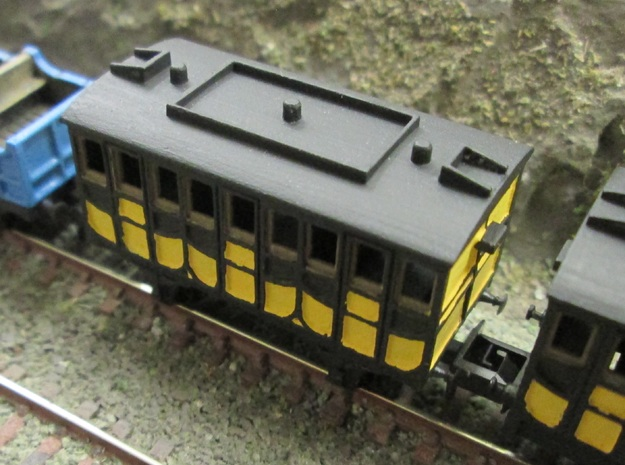 N Gauge Liverpool & Manchester Railway 1st Coach in Smooth Fine Detail Plastic