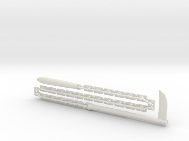 Kusari-Gama - 1:4 in White Natural Versatile Plastic
