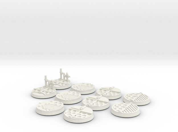 10x 32mm Industrial Base in White Strong & Flexible
