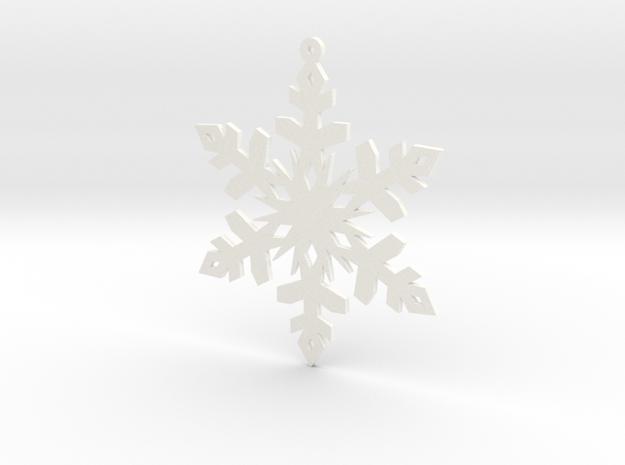 Paper Snowflake Ornament in White Processed Versatile Plastic