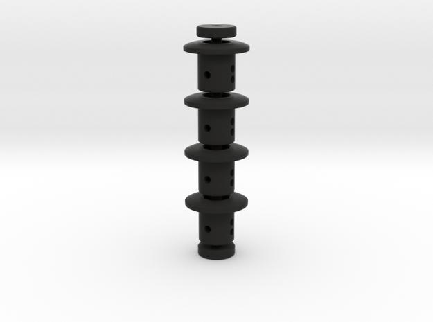TC Adjustable Body Mount 5mm (Set) in Black Natural Versatile Plastic