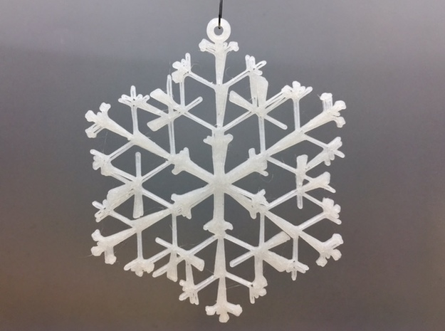 Organic Snowflake Ornament - Canada in White Natural Versatile Plastic