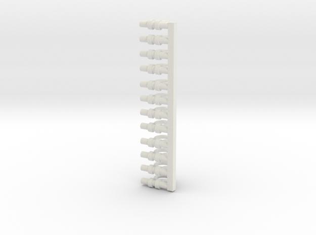 Large Shakles in White Natural Versatile Plastic